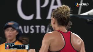 Simona Halep a pierdut finala de la Australian Open în fața Carolinei Wozniacki
