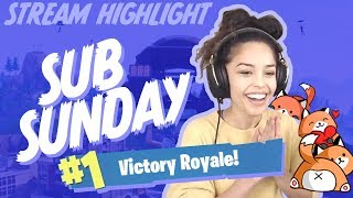 Carrying Viewers on Sub Sunday! - Valkyrae Fortnite Highlights