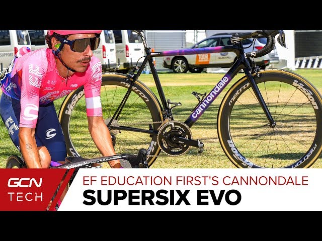 EF Education First Pro Cycling's Cannondale SuperSix EVO   Lachlan