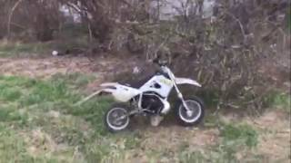 Man Falls Off Dirt bike / I Fell Off Mini Dirt Bike / LMAO Funny LOL