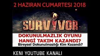 Survivor 2018 2 Haziran Dokunulmazlık Oyununu Kim Kazandı? Kim Elenecek?