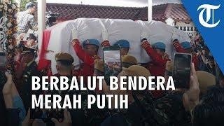 Jenazah BJ Habibie Diberangkatkan Menuju TMP Kalibata, Peti Berbalut Bendera Merah Putih