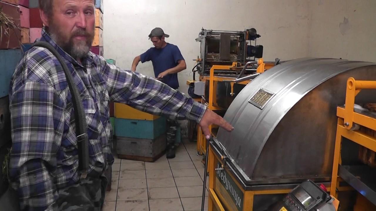 Видео линии по откачке мёда