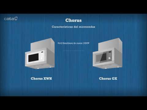 Campana integrada con microondas CHORUS de CATA