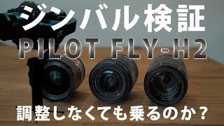 ジンバル検証 [PILOT FLY-H2によく似た重さのレンズを乗せたら調整しなくて済むか?]