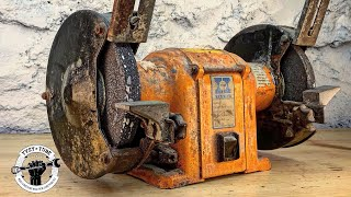 Rusty and Broken Bench Grinder -  Awesome Restoration