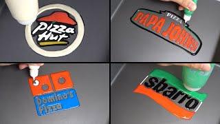 Pizza brand logo Pancake art - Pizza hut, Papajohns, Sbarro, Dominos
