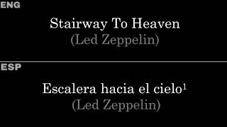 Stairway To Heaven (Led Zeppelin) — Lyrics/Letra En Español E Inglés