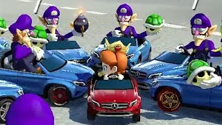 We hit a baby with our car in Mario Kart