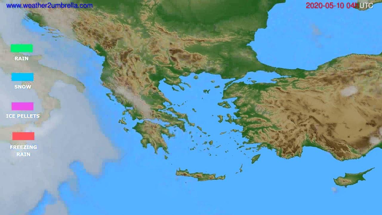 Precipitation forecast Greece // modelrun: 12h UTC 2020-05-09