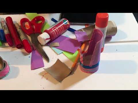 How to Make a Cell phone Holder from a TP Roll