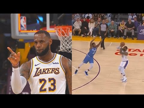 LeBron James Brings Lakers Crowd To Their Feet With Deep Buzzer Beater After Bullying Magic!
