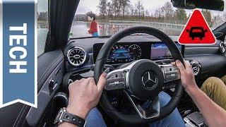 Aktiver Brems-Assistent & Ausweich-Lenk-Assistent in der Mercedes A-Klasse 2019 im Test