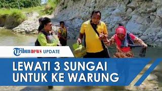 Kondisi Warga di daerah Pedalaman Jombang, Harus Jalan Kaki Melewati 3 Sungai untuk Pergi ke Warung
