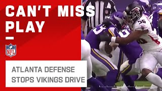 Falcons D Stops Vikings on the 1 Yd Line! by NFL