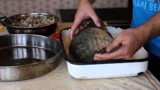 Фаршированный карп.  Болгарский рецепт фаршированной рыбы
