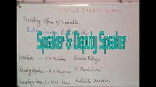 KERALA PSC UNIVERSITY ASSISSTANT SPEAKER & DEPUTY SPEAKER OF LOKSABHA