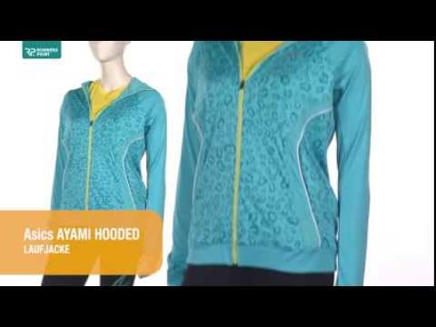 Damen Laufjacke Asics Ayami Graphic Hooded Laufjacke
