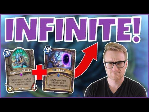 Hearthstone | Infinite Cards! | Wild Plot Twist Warlock | Rise of Shadows | Legend
