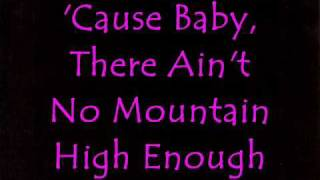 """Ain't No Mountain High Enough"" Lyric"