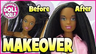 Thrift Store Barbie Doll Makeover How To Fix Doll Hair