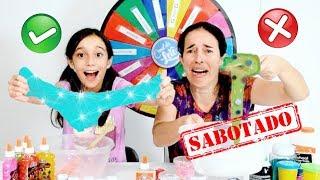 DESAFIO DA ROLETA MISTERIOSA DE SLIME SABOTADO ★ The Mystery Wheel of Slime Challenge com a Mamãe