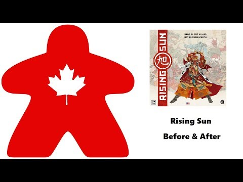 Meeple Leaf: Rising Sun - Before & After