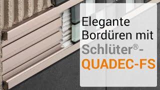 Elegante Bordüren mit Schlüter-QUADEC-FS