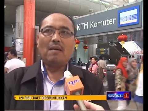 KTMB 120 RIBU TIKET DIPERUNTUKKAN TBC [17 FEB 2015]