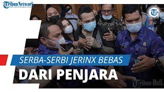 Serba-serbi Jerinx SID Bebas dari Penjara, Serba Hitam dan Disambut Gerimis