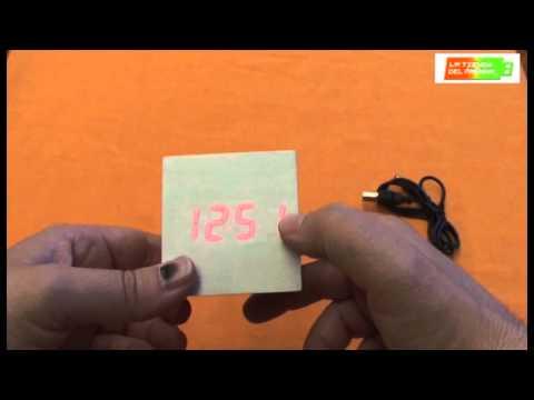 Configuración y funcionamiento del reloj Magic Cube