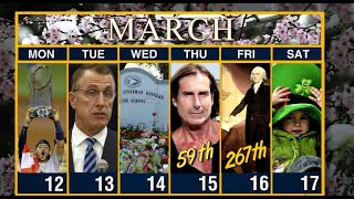 Calendar: Week of March 12