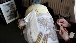 ASMR - More Lace Making - Russian Bobbin Lace - Relaxing Sound
