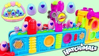 Gambar cover Making Hatchimals Surprise Eggs with Magic Play Doh Mega Fun Factory Playset!