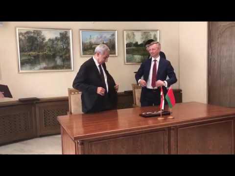 الوزير/طارق قابيل فى ختام اجتماعات اللجنة التجارية المشتركة بالعاصمة مينسك