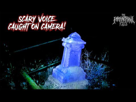 Scary Spirit Voice On Camera At Abandoned Cemetery In Arizona