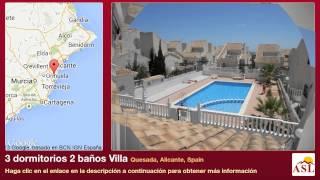 preview picture of video '3 dormitorios 2 baños Villa se Vende en Quesada, Alicante, Spain'