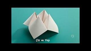 kağıttan tuzluk nasıl yapılır ?
