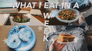 WHAT I EAT IN A WEEK LIVING IN A DORM AT COLLEGE | Florida State University
