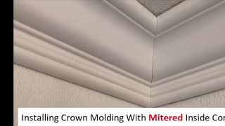 How To Install Crown Molding With Mitered Corners - Easy Install Tips!