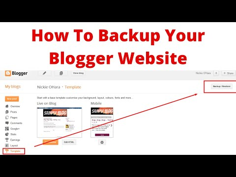 How to backup your free blogger website