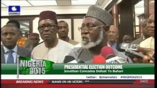 Abdulsalami Abubakar, Dangote Others Visit Jonathan Before Buhari's Win