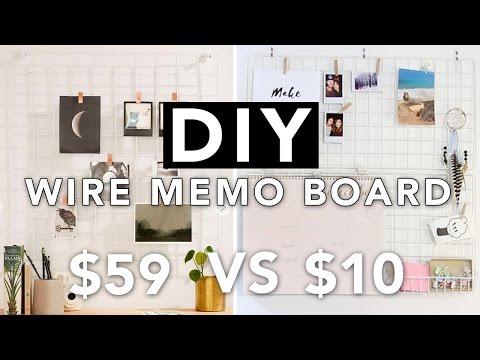 DIY Wire Grid Memo Board (Wall Grid Board) | SUPER EASY | beautybitten
