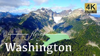 Washington State By Drone - Mount Baker, Cape Disappointment, Seattle & More 4K Travel Footage