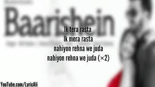 Baarishein Song Lyrics | Arko Feat. Atif Aslam & Nushrat Bharucha  New Romantic Song 2019 |