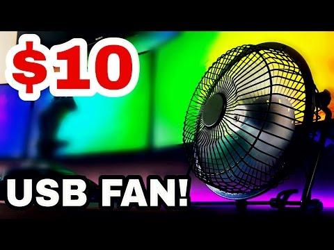 $10 Desktop USB Fan! Most In-Depth Fan Review on YouTube…