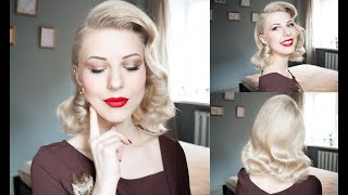 1950s Old Hollywood Diva Hairstyle Tutorial