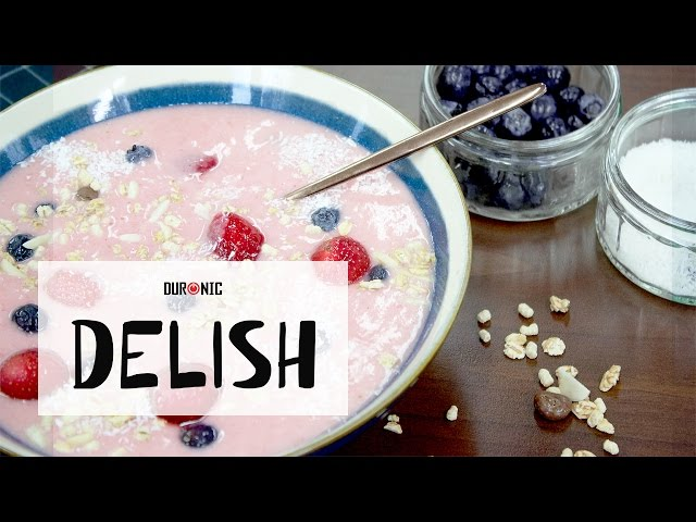 Strawberry and Banana Smoothie Bowl | Duronic Delish | BL3 Blend & Go