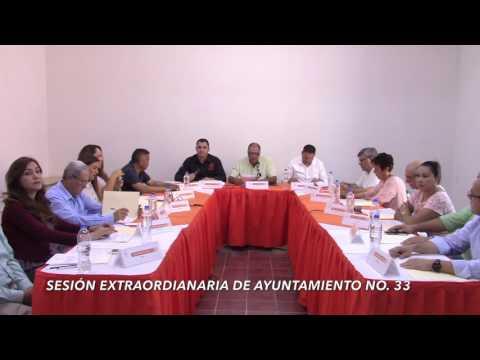 Sesión Ordinaria No. 33 de Ayuntamiento 22 de marzo de 2017