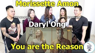 You Are The Reason - Cover By Daryl Ong & Morissette Amon | Reaction - Australian Asians